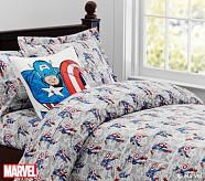 <em>Captain America</em> Comic Duvet Cover, Twin