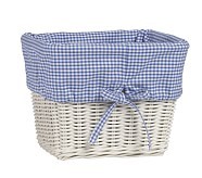 Large Gingham Liner, Blue