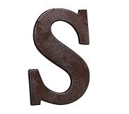 Faux Bronze Letter, S