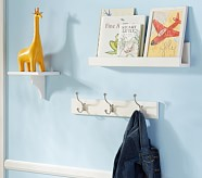Hayden Pedestal Shelf, Ledge & Hook Rack, Pedestal Shelf