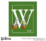 Dr. Seuss™ Alphabet Prints, Letter W, Green, Wash