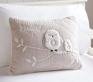 Hadley North Star Owl Nursery Small Quilted Sham