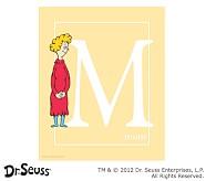 Dr. Seuss™ Alphabet Prints, Letter M, Yellow, Mom
