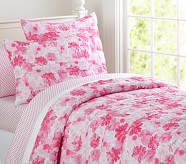 Lillian Floral Quilt, Pink, Twin