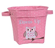 Magenta Owl Appliqué Tote, Medium