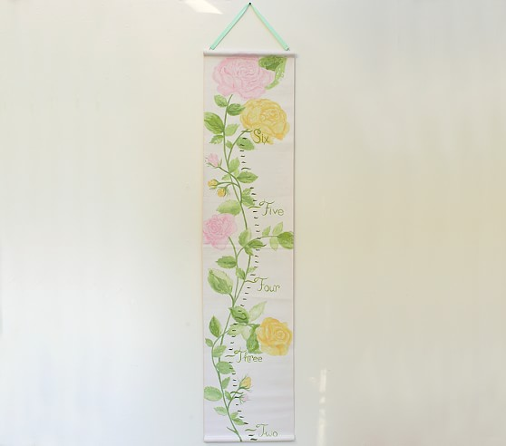 Romantic Floral Growth Chart