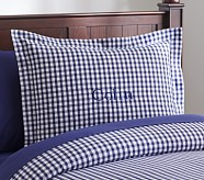 Buffalo Check Flannel Standard Sham, Navy