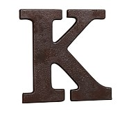 Faux Bronze Letter, K