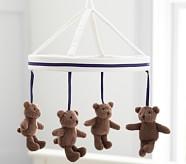 Navy Harper Bear Crib Mobile