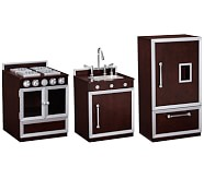 Gourmet Kitchen, Stove, Sink, & Refrigerator Set
