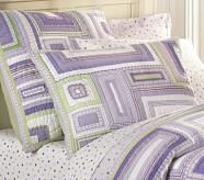 Katie Patchwork Quilted Sham, Standard, Lavender