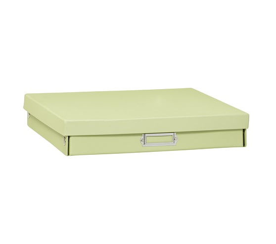 Girls' Cameron Creativity Storage, Small Flat Box, Green