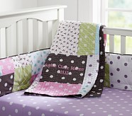 Sophie Nursery Quilt Bedding Set, Toddler Quilt, Crib Skirt & Crib Fitted Sheet