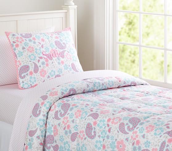 Loft Paisley Quilt, Pink, Full/Queen