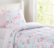 Loft Paisley Quilt, Pink, Twin