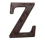 Faux Bronze Letter, Z