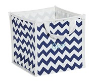 Navy Harper Chevron Pop Up Tote
