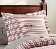 Lakehouse Stripe Standard Sham, Red