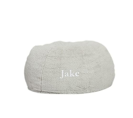 Anywhere Beanbag Slipcover, Gray Sherpa