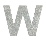 Galvanized Wall Letter, W