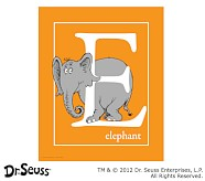 Dr. Seuss™ Alphabet Prints, Letter E, Orange, Elephant