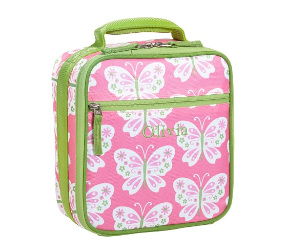 Mackenzie Pink Butterfly Classic Lunch Bag