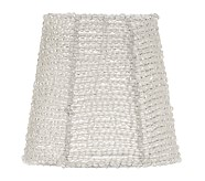 Beaded Chandelier Mini Shades Set of 5, Clear