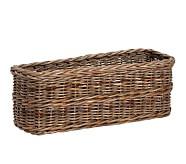 Taupe Sabrina Changing Table Basket