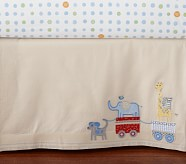 Circus Friends Nursery Crib Skirt