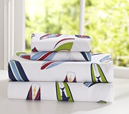 Surfboard Sheet Set, Twin, Blue