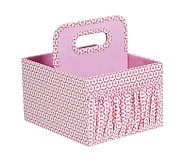 Canvas Diaper Caddy, Pink Geo