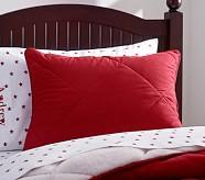 Cozy Plush Standard Sham, Red