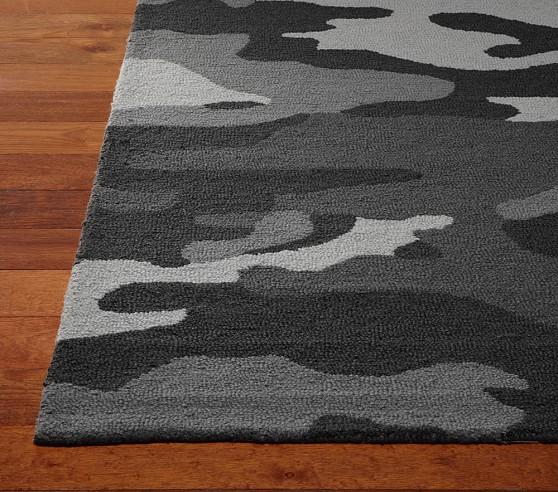 Camo Rug 8x10' Gray