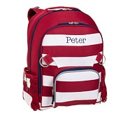 Fairfax Red Stripe Large Backpack, No Patch