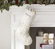 Snowflake Glitter Stocking
