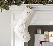 Angel Glitter Stocking
