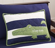 Alligator Madras Small Quilted Sham