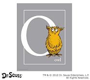 Dr. Seuss™ Alphabet Prints, Letter O, Grey, Owl