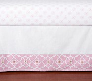 Sierra Metallic Crib Skirt, Pink