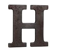 Faux Bronze Letter, H