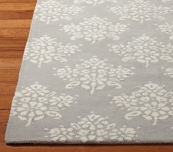 Floral Bouquet Rug 3x5 ft Gray