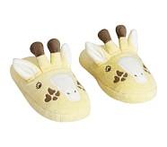 Yellow Giraffe Slippers M (10-12)