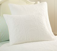 Whitney Standard Quilted Sham, White