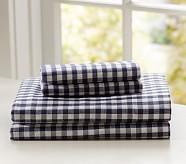 Buffalo Check Flannel Standard Pillowcase, Navy