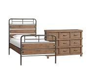 Owen Bed & Dresser Set, Twin, Sand Washed Taupe