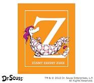 Dr. Seuss™ Alphabet Prints, Letter Z, Orange, Zizzer