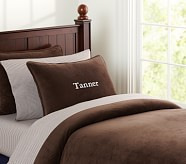 Chamois Duvet Cover, Brown, Twin