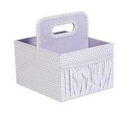Canvas Diaper Caddy, Lavender Geo