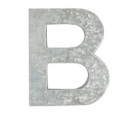 Galvanized Wall Letter, B