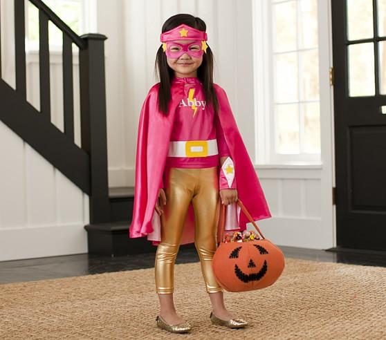 Pink Superhero Halloween Costume, 3T